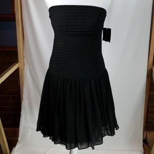 NWT Zara Black Strapeless Cocktail Dress- Medium